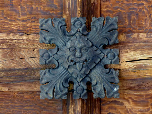 Green Man carving - Durham Cathedral Cloister