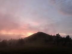 La nuit tombe aux Estables avec du brouillard !