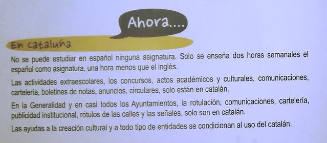 Cataluña, contra el español