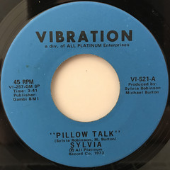 SYLVIA:PILLOW TALK(LABEL SIDE-A)