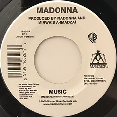 MADONNA:MUSIC(LABEL SIDE-A)