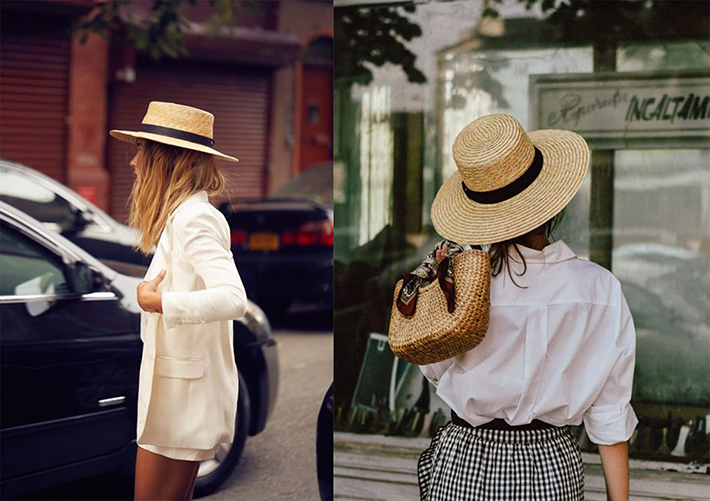 straw hat outfits for this summer trend 2018 style fashion tendencias9
