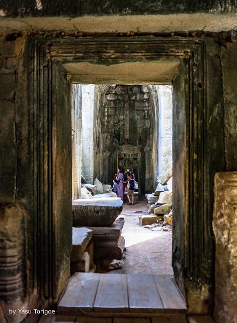 Doorways Aligned through the Ta Prohm Temple, Cambodia-23