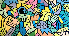 ottograph painting - too fly - acrylic and ink on canvas - 85x155 cm #ottograph 2018