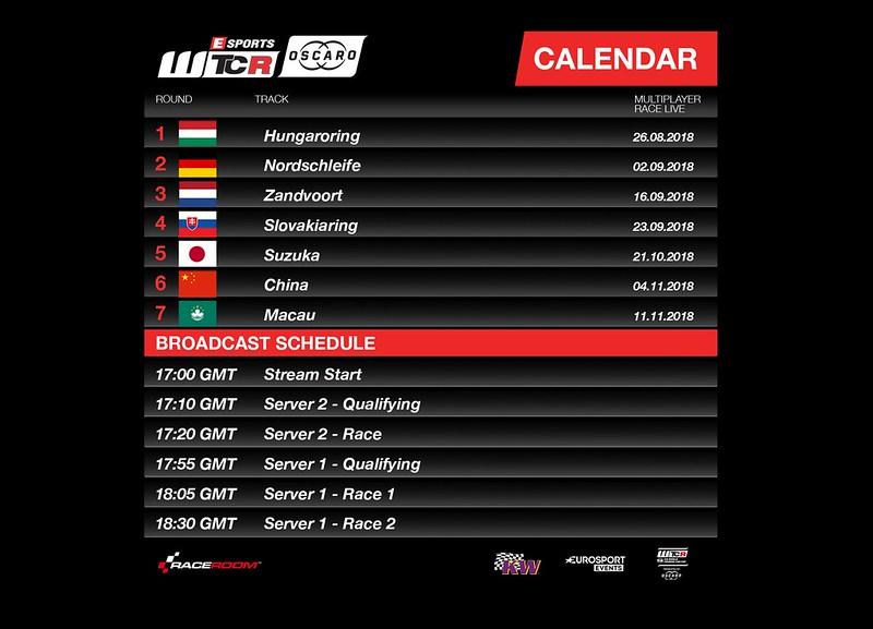 WTCR esports-calendar-2018