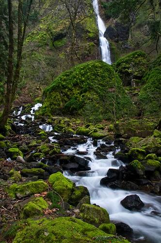 karl landscape travel water waterfall oregon usa