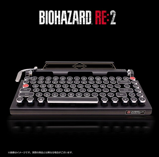 BIOHAZARD RE:2 × Qwerkywriter S Typewriter - Inspired Bluetooth Mechanical Keyboard