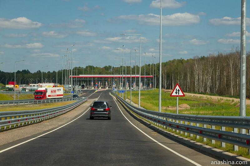Съезд с М-11 близ Новгорода
