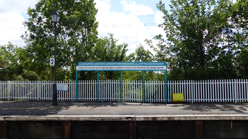 This is a picture of llanfair pg station