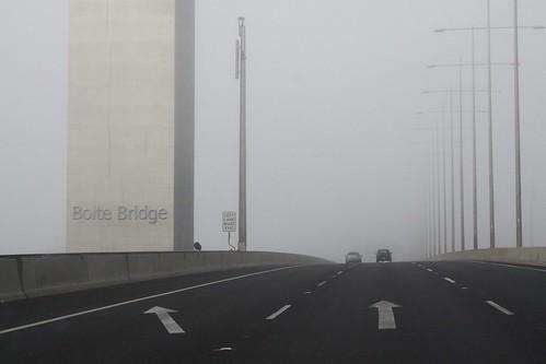 Driving across the Bolte Bridge