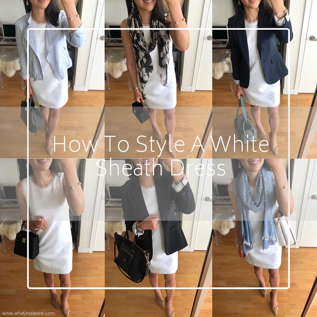 How To Style A White Sheath Dress
