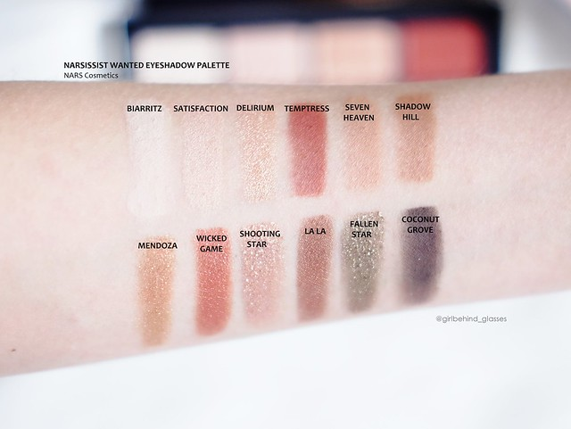 NARSissist Wanted Eyeshadow Palette swatches