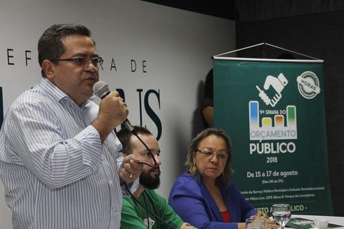 Manaus 15.08.18. Semana de orçamento publico da Semef.