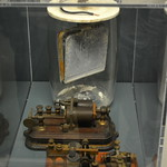 Edison, NJ - Thomas Edison Center - Battery from the Edison Memorial Tower, Telegraph Repeater, Telegraph Key and Sounder