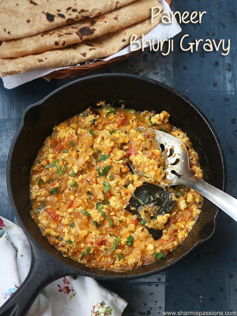 paneer bhurji gravy recipe