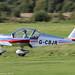 G-CBJR - 2002 build Aerotechnik EV-97A Eurostar, arriving on Runway 26L at Barton, part of the LAA 70th Anniversary Tour