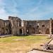Fountain Court in Raglan Castle