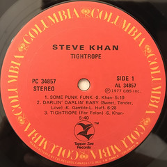 STEVE KHAN:TIGHTROPE(LABEL SIDE-A)