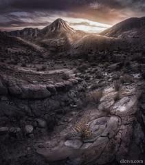 Ultimos rayos de sol en el Desierto de Tabernas