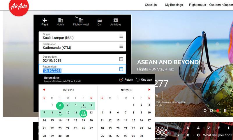 airasia kathmandu schedule