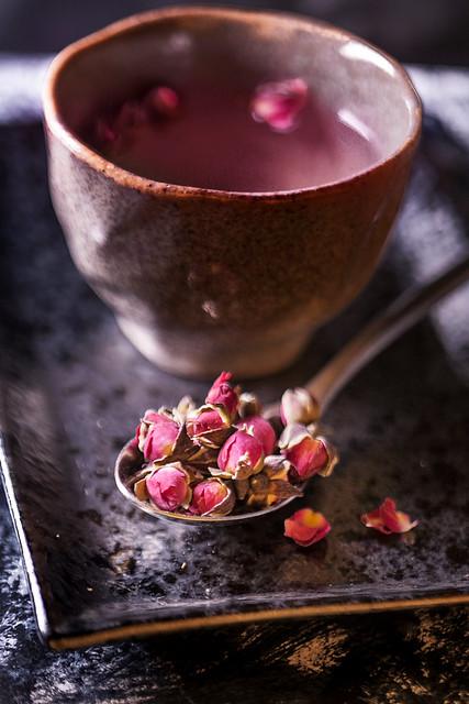 Rose Tea Close up