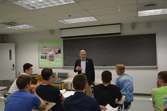 Rep. Simanski mentors Boys State Delegates on writing legislation