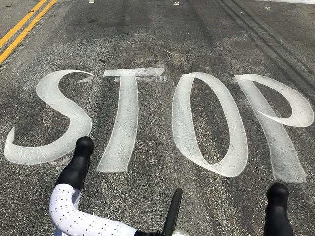 Calligraphic STOP