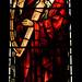 Tamworth, Staffordshire, St. Editha's, St. George's chapel, north window, detail