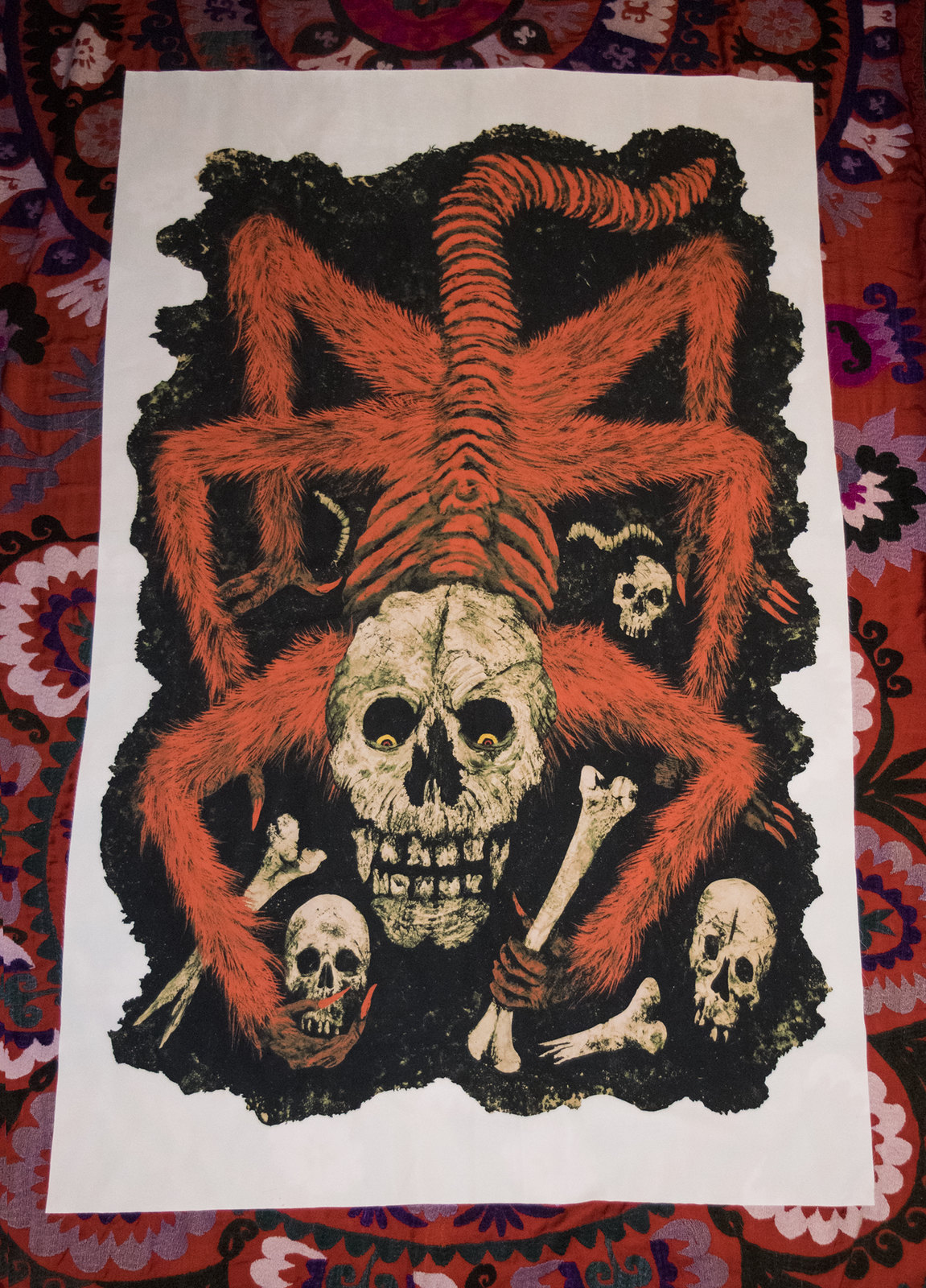 Aeron Alfrey - Master of the Worm-Eaten Skull, Fabric Print