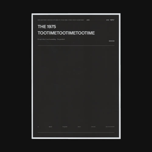 The 1975 - TOOTIMETOOTIMETOOTIME