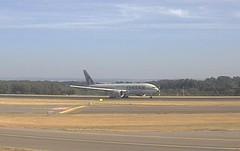 Qatar Airways Cargo Boeing 777F A7-BFD Luxembourg Airport webcam captu