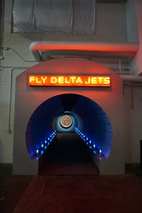 Fly Delta Jets neon sign and tunnel at the Delta Flight Museum Atlanta