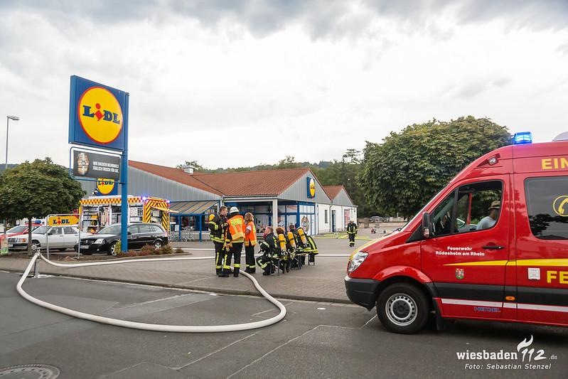 Feuer in Supermarkt Rüdesheim 01.08.18