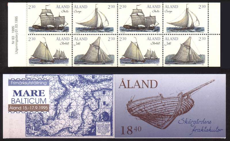 Åland Islands - Scott #112a (1995) complete booklet - from current eBay auction (NIMC 2018)