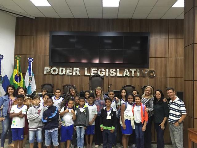 """Programa """"Visite a Câmara"""" com os alunos da Escola Municipal Rui Barbosa"""