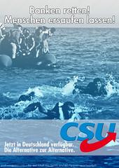 Erstes Wahlplakat für bundesweiten Wahlkampf der CSU geleakt