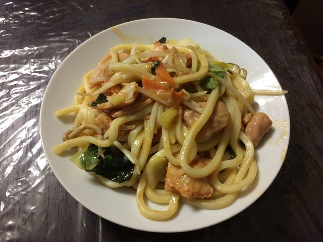 Grilled UDON with HOSHIYAMA HORUMON
