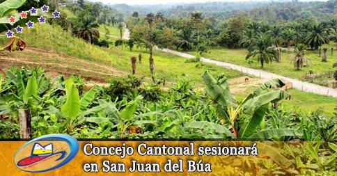 Concejo Cantonal sesionará en San Juan del Búa