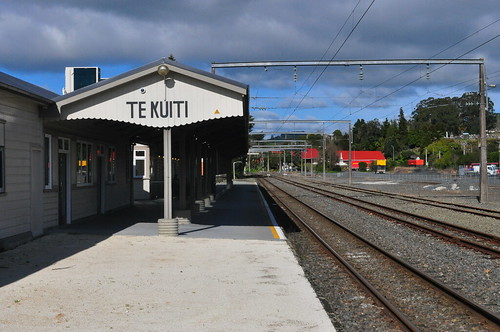 Te Kuiti Station - looking towards Wellington