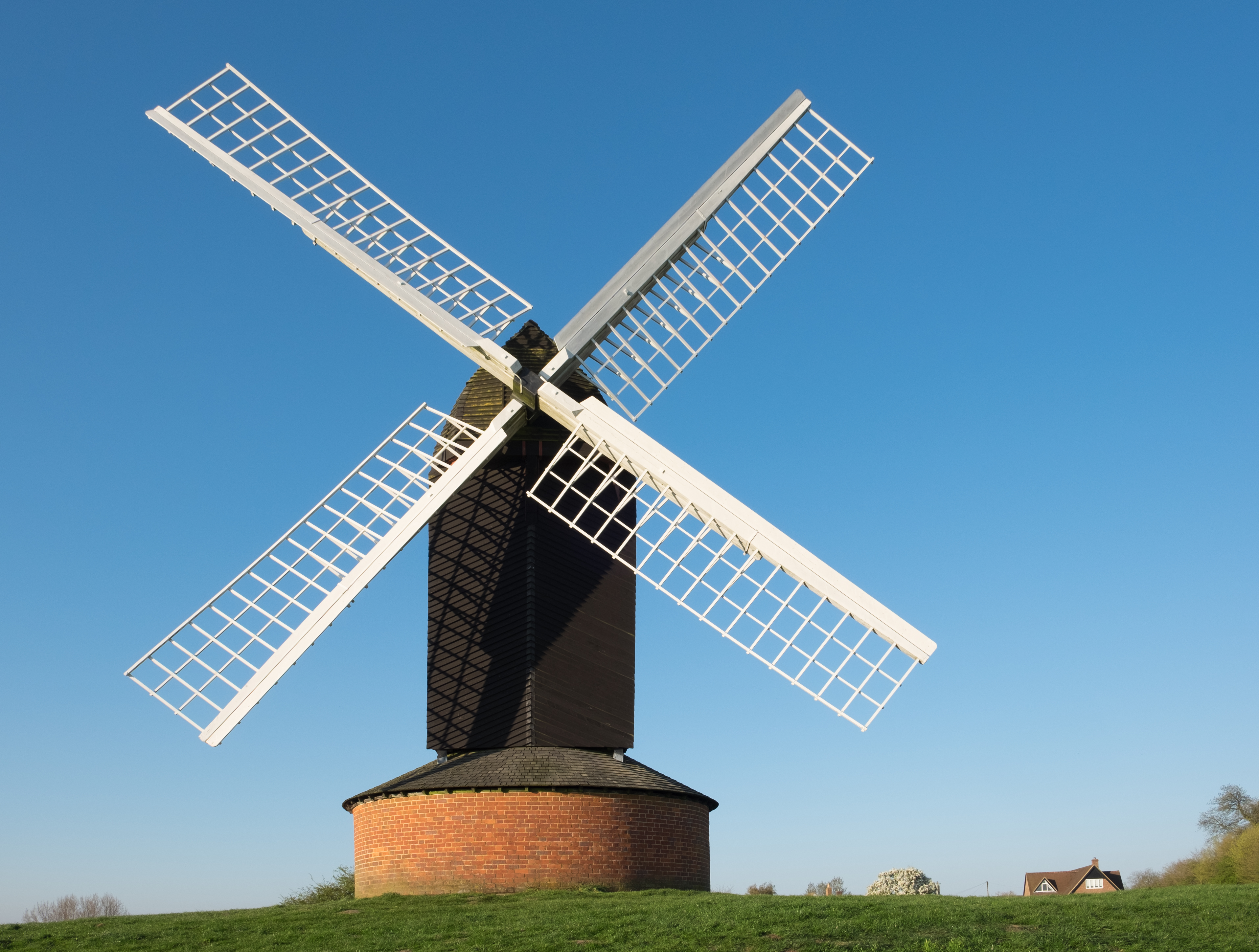 Brill windmill, Buckinghamshire. This late 17th century post mill is a Grade II* listed building in England.