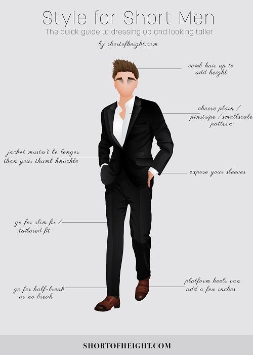 Consejos de estilo para lucir más alto #infografía