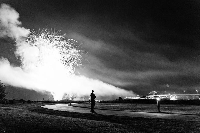 Cop vs. Fireworks