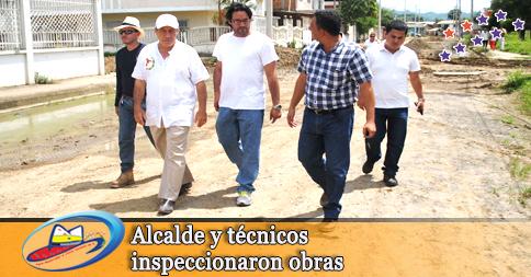 Alcalde y técnicos inspeccionaron obras