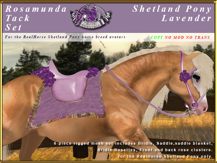 E-RH-Shetland-RosamundaSaddleSet-Lavender - TeleportHub.com Live!