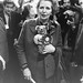 Margaret Thatcher with Percy Prestwick Teddy Bear, October 1985