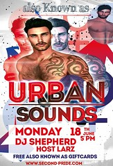 Second Pride 2018 Monday 5-7 pm - DJ Shep also Known as Urban Sounds