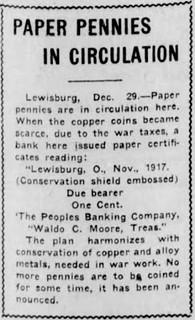 Waldo Moore Salem News 12_29_1917, Sat 1