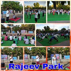 International Yoga Day 2018 by Vivekananda Kendra Kadapa Nagar, Telugu Pranth