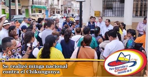 Se realizó minga nacional contra el Chikungunya