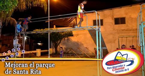 Mejoran el parque de Santa Rita